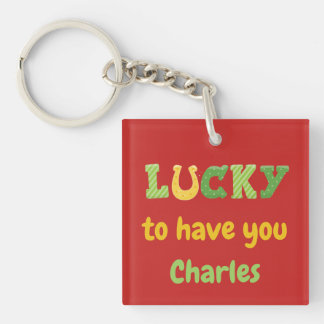 Glücklich Sie haben Thema St. Patricks Schlüsselanhänger
