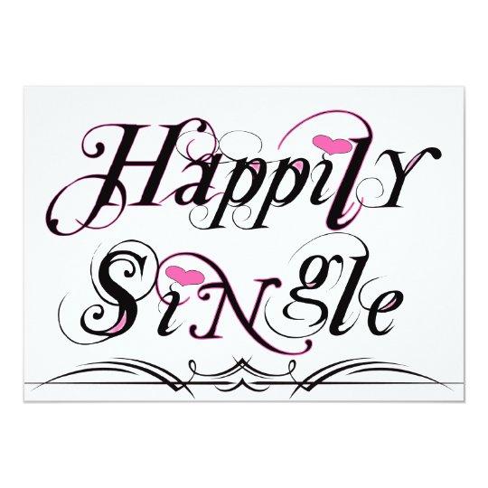 Glücklich Single Einladung