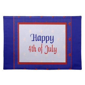 Glücklich spielt Juli 4., Rot auf Blauem und Tischset