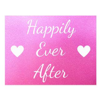 Glücklich überhaupt nach rosa postkarte
