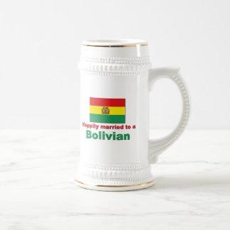 Glücklich verheirateter Bolivianer Bierglas