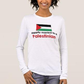 Glücklich verheirateter Palästinenser Langarm T-Shirt