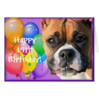 Glückliche 19. Geburtstags-Boxer-Hundegrußkarte Karte