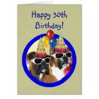 Glückliche 30. Geburtstag Boxer-Hunde Karte