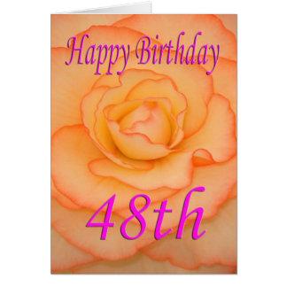 Glückliche 48. Geburtstags-Blume Karte