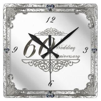 Glückliche 60. Hochzeitstag-Uhr Uhren