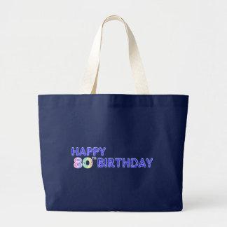 Glückliche 80. Geburtstags-Taschen-Tasche Jumbo Stoffbeutel