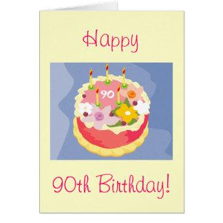 Glückliche 90. der Geburtstags-Karte der Diva Karte