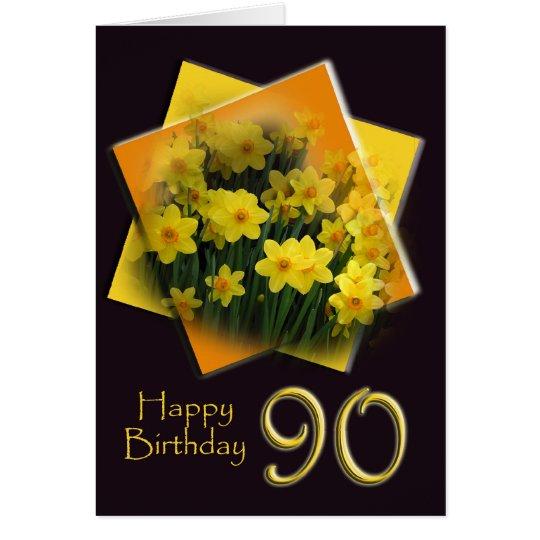 Glückliche 90. Geburtstags-Gruß-Karte Grußkarte