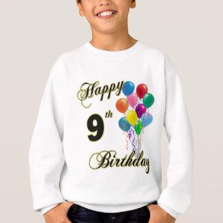 Glückliche 9. Geburtstags-Geschenke und Sweatshirt
