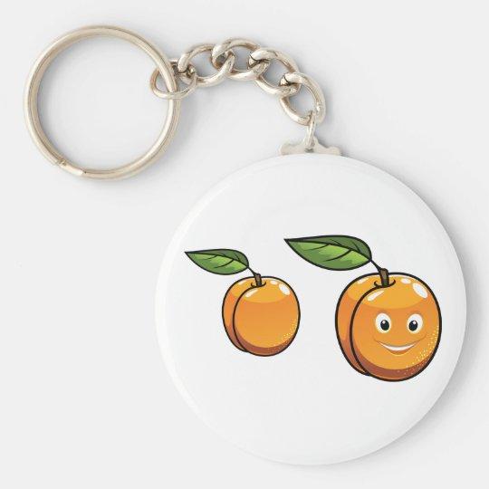 Glückliche Aprikose Keychain Schlüsselanhänger
