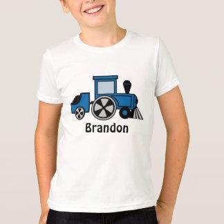 Glückliche Bahn-blauer Zug-Motor T-Shirt
