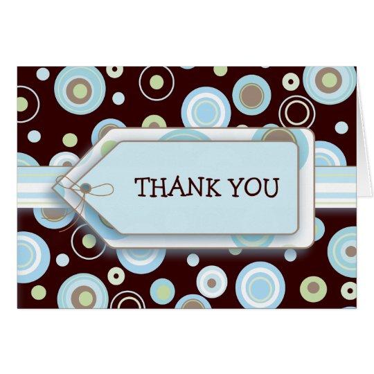 Glückliche blaue Punkte danken Ihnen Notecard Mitteilungskarte