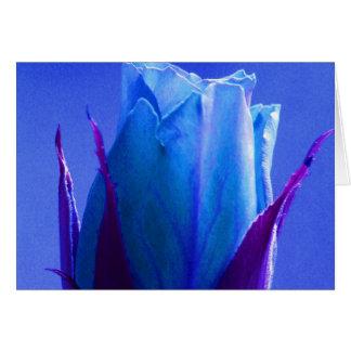 Glückliche blaue Rose der Mutter Tagesiii Grußkarte