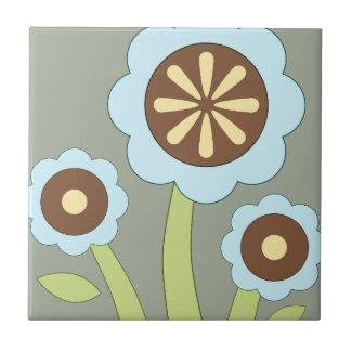 Glückliche Blumen Kleine Quadratische Fliese