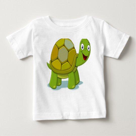Glückliche Cartoon-Schildkröte Baby T-shirt