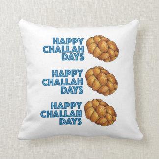 Glückliche Challah-Tagblaues Chanukah Chanukka Kissen