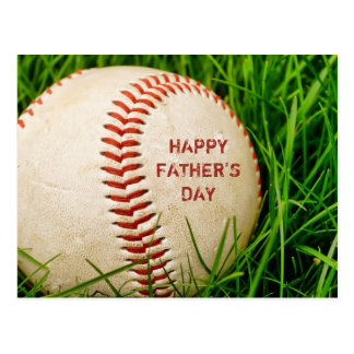 Glückliche der Vatertags-Baseball-Postkarte