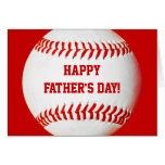 Glückliche der Vatertags-Baseballkarte Karte