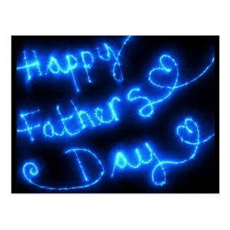 Glückliche der Vatertags-Blau-Lichter Postkarten