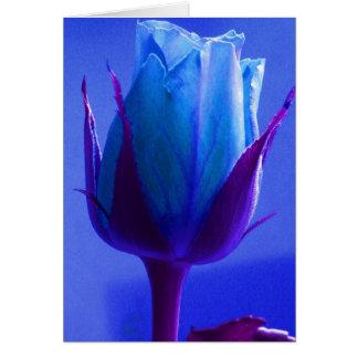 Glückliche der Vatertags-blaue Rose II Grußkarte