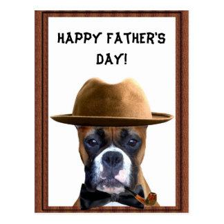 Glückliche der Vatertags-Boxerpostkarte Postkarten