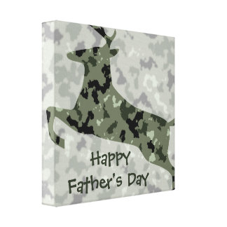 Glückliche der Vatertags-Camouflage-Rotwild Gespannter Galeriedruck