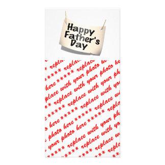 Glückliche der Vatertags-Fahne (Text-Entwurf) Photo Karte