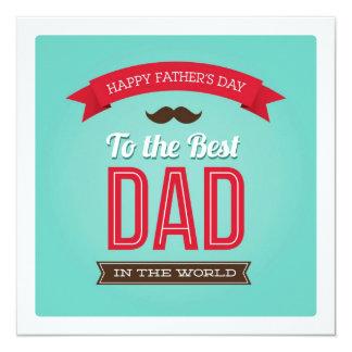 Glückliche der Vatertags-flache Karte Quadratische 13,3 Cm Einladungskarte