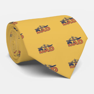 Glückliche der Vatertags-Geschenke Bedruckte Krawatte