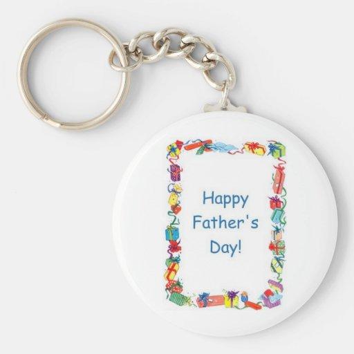 Glückliche der Vatertags-Geschenke Schlüsselbänder