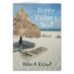Glückliche der Vatertags-Gruß-Karte, StrandCabana