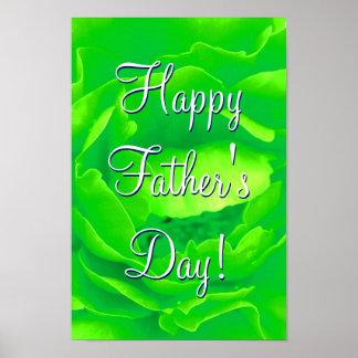 Glückliche der Vatertags-hellgrüne Rose Poster