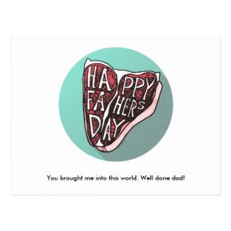 Glückliche der Vatertags-Knochen-Steak-Postkarte Postkarten