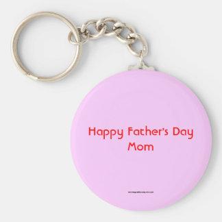 Glückliche der Vatertags-Mamma Keychain Standard Runder Schlüsselanhänger
