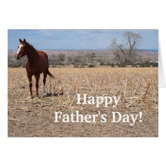 Glückliche der Vatertags-PferdeFoto-Karte Grußkarte