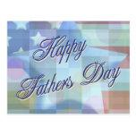 Glückliche der Vatertags-Postkarte