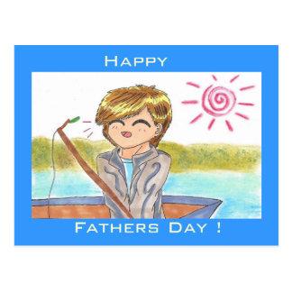 """Glückliche der Vatertags-"""" Postkarte"""