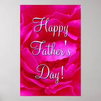 Glückliche der Vatertags-Rosa-Rose I Poster
