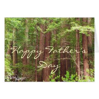 Glückliche der Vatertags-Rotholz-Baum-Karte Karte