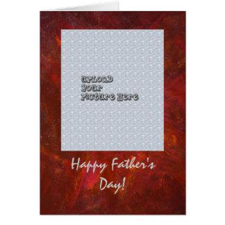 Glückliche der Vatertags-Schablonen-Karte Grußkarte