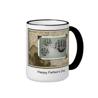 Glückliche der Vatertags-Tasse Ringer Tasse