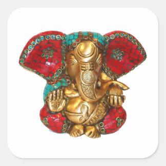 Glückliche DIWALI - Danke GANAPATI Ganesh Quadratischer Aufkleber