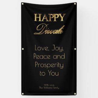 Glückliche Diwali elegante schwarze Banner