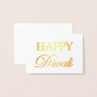 Glückliche Diwali Goldfolien-elegante Typografie Folienkarte