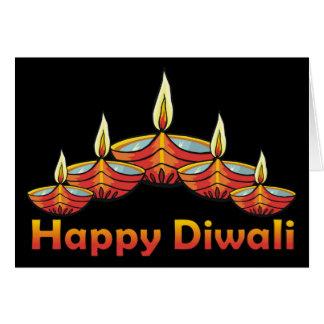 Glückliche Diwali Gruß-Karte Grußkarte