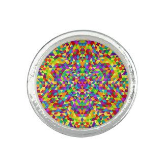 Glückliche Dreieck-Mandala 2 Ring