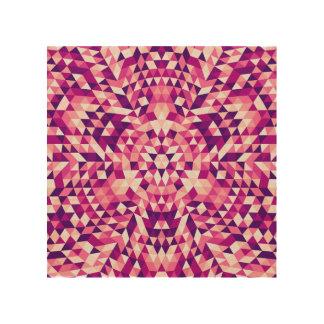 Glückliche Dreieck-Mandala Holzleinwand