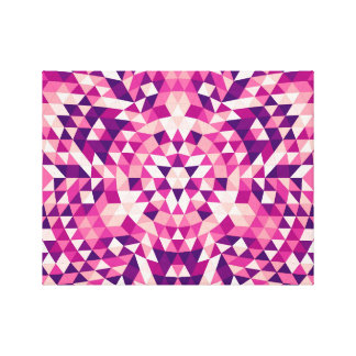 Glückliche Dreieck-Mandala Leinwanddruck