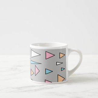 Glückliche Dreieck-Pastellfarbespresso-Tasse Espressotasse